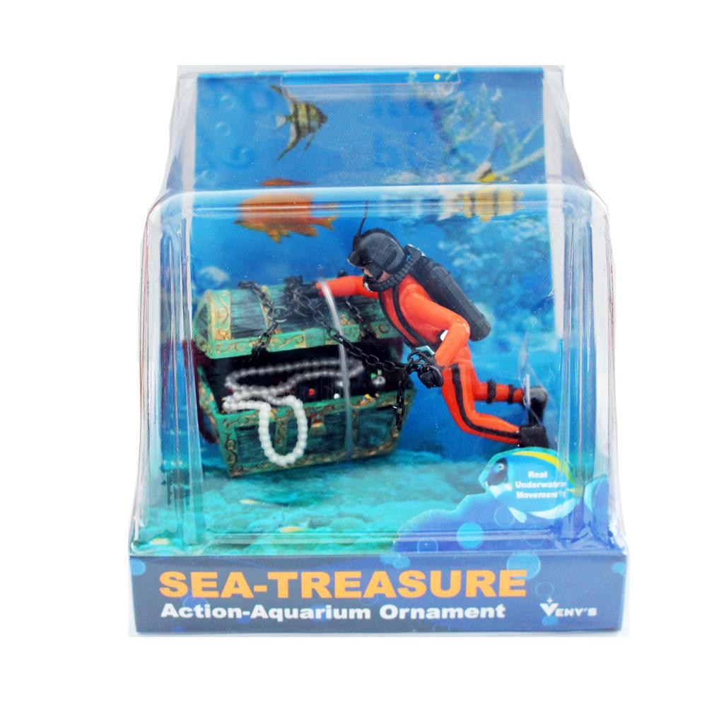 VENYS SEA TREASURE 잠수부 에어장식, 1개