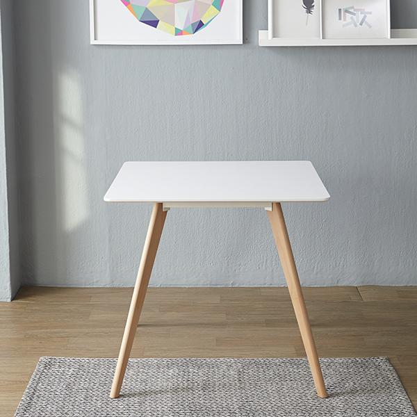 베스트리빙 모디디 EF 2인식탁 테이블, 화이트 + 내츄럴