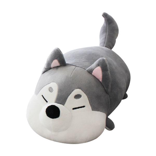 메세 모찌인형 강아지 허스키 쿠션, 35cm, 혼합 색상