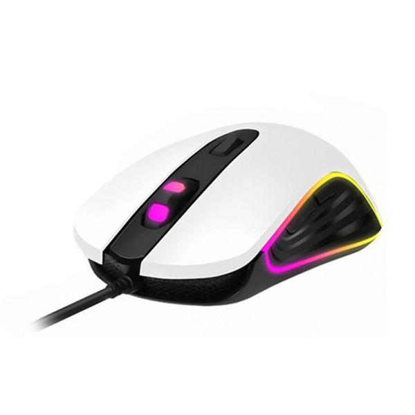 COX RGB 게이밍 마우스, CM50, 화이트