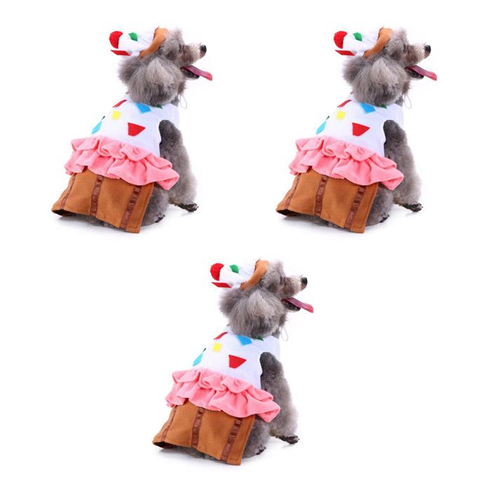 댕댕이샵 반려동물 재미있는 할로윈 코스튬 3p, 케이크소녀
