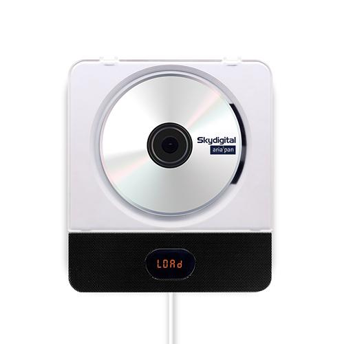 스카이디지탈 아리아판 벽걸이 블루투스 CD 플레이어 2 + 스탠드 거치대, 단일 상품, 블랙