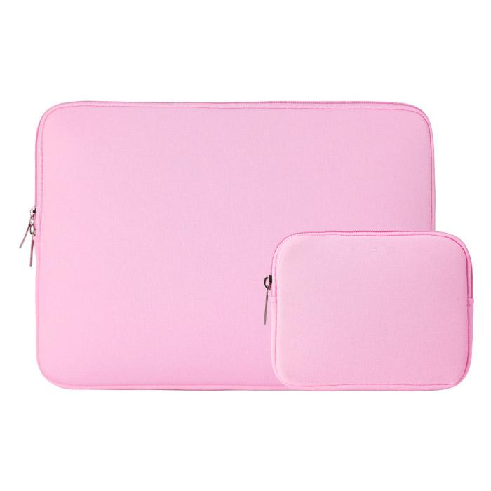 아리코 맥북 노트북 파스텔 파우치 & 보조파우치, 핑크, 14in