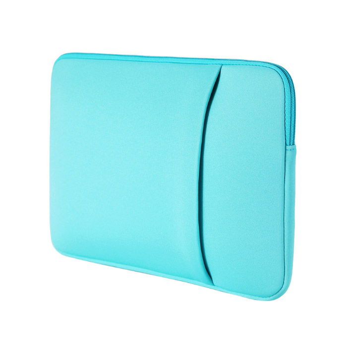 아리코 맥북 노트북 파스텔 포켓 파우치, 블루, 14in