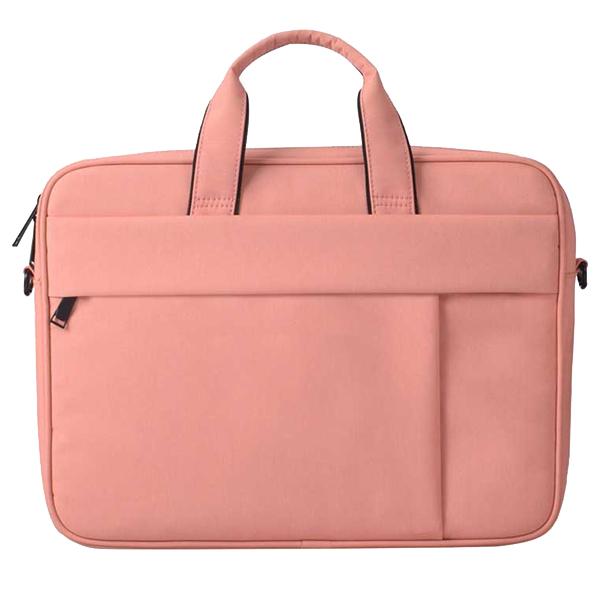 플럭스 투라인 크로스백 노트북 가방, 베이비 핑크, 15in