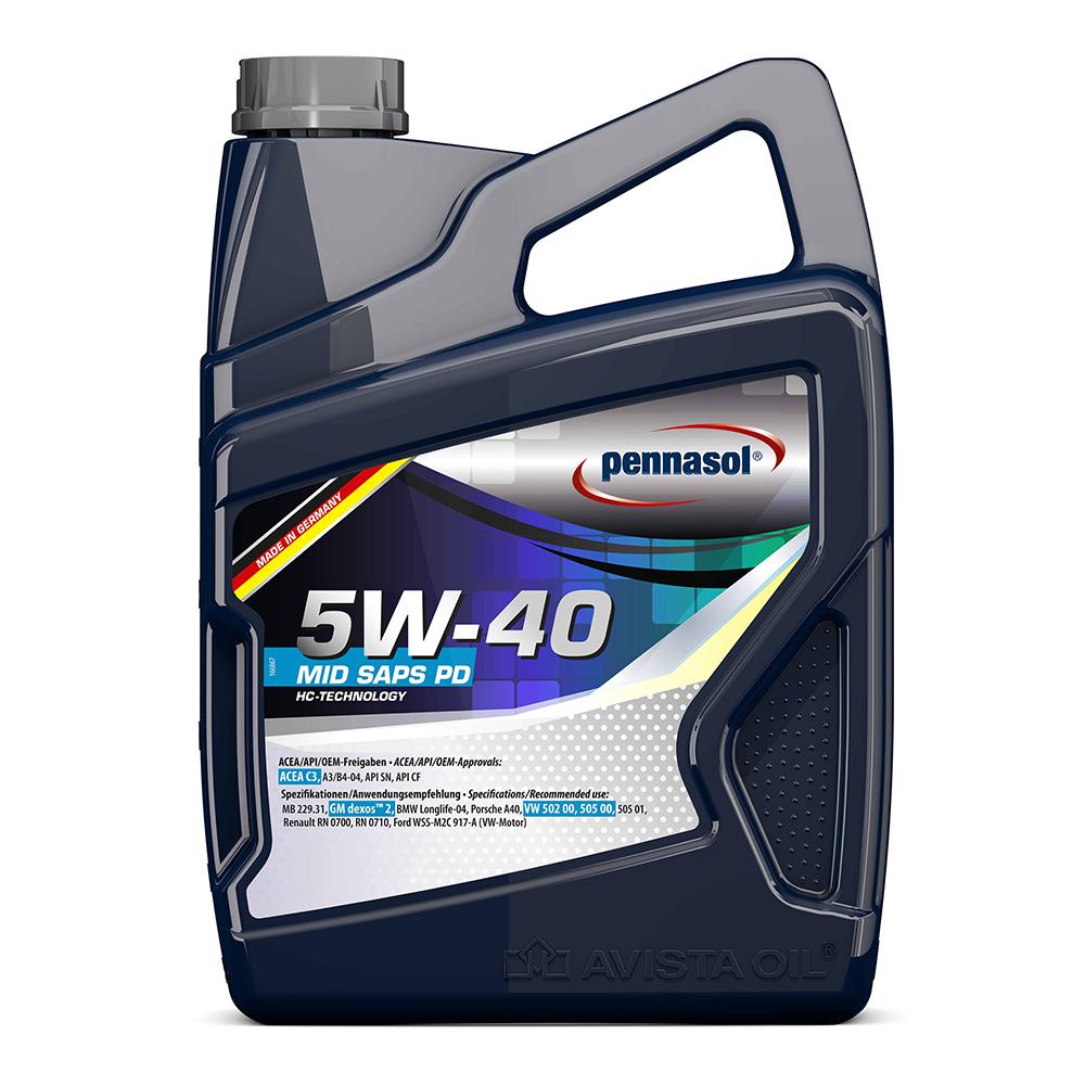 페나졸 MID SAPS PD HC-Technology SAE 5W-40 100% HC 합성엔진오일 1L, 1개
