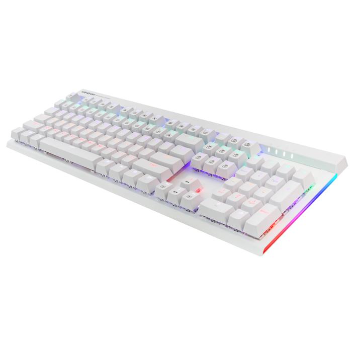 앱코 플러스 청축 축교환 측면 LED 게이밍 기계식키보드, K640 PLUS, 화이트