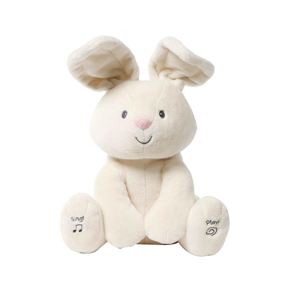 매직캐슬 노래하는 까꿍 토끼 작동완구, 30cm, 혼합 색상