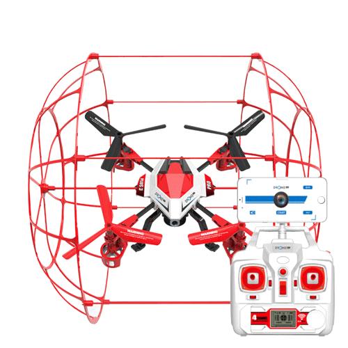 DRONEPLUS 교육용 조립 KIT 드론 PLUS3 PRO + 캠포함, 레드