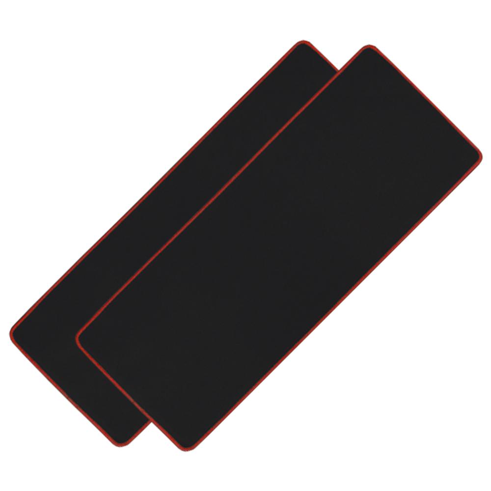 아이크라운 장 마우스패드 ICR-LPD80, 블랙 + 레드, 2개