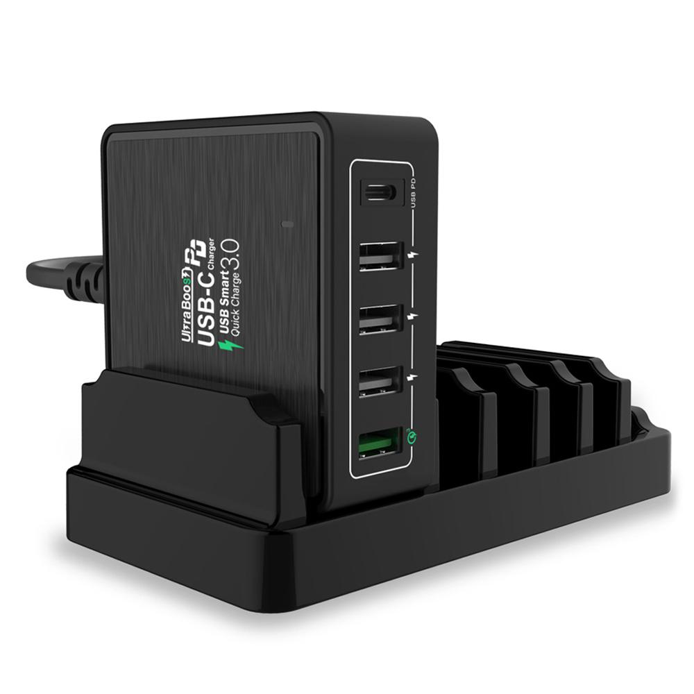 크레앙 울트라부스트 PD 멀티 고속 충전기 + 전용거치대 세트, CREPDQULT, 1세트