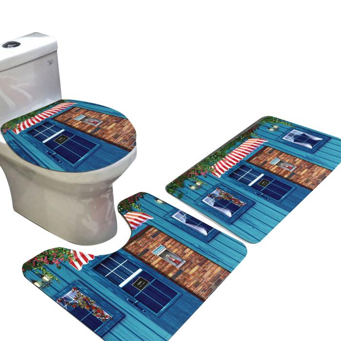 스토어33 건식 욕실매트 빈티지 3종세트 N, 1세트