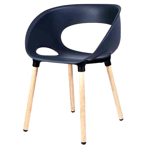 리빙숲 스마일 체어 플라스틱 의자, 블랙