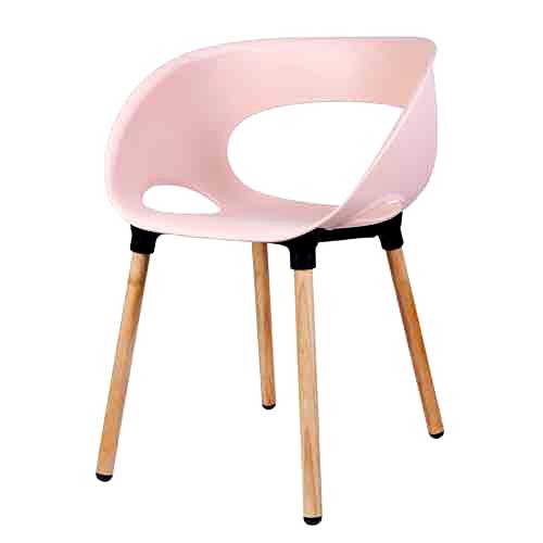 리빙숲 스마일 체어 플라스틱 의자, 인디핑크