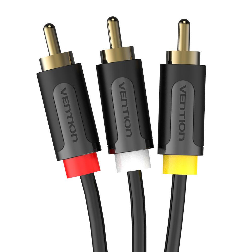 벤션 무산소 3 RCA to 3 RCA 오디오 비디오 AV 케이블 1m, 단일 상품