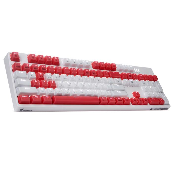 앱코 HACKER 카일 광축 방수 축교환 크리스탈 키캡 게이밍 기계식키보드, K8800, 화이트