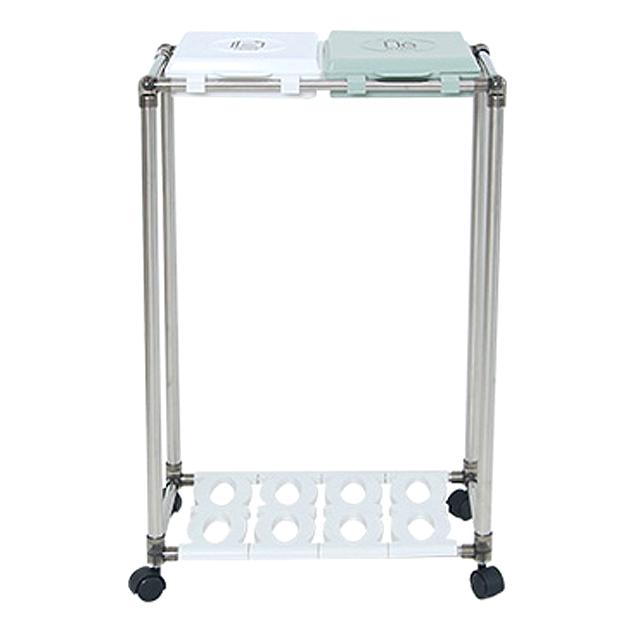 리빙해피 클링 분리수거함 2p + 분리수거함 전용스티커, 분리수거함(실버 + 피스타치오 + 화이트), 스티커(TEXT 블랙), 1세트