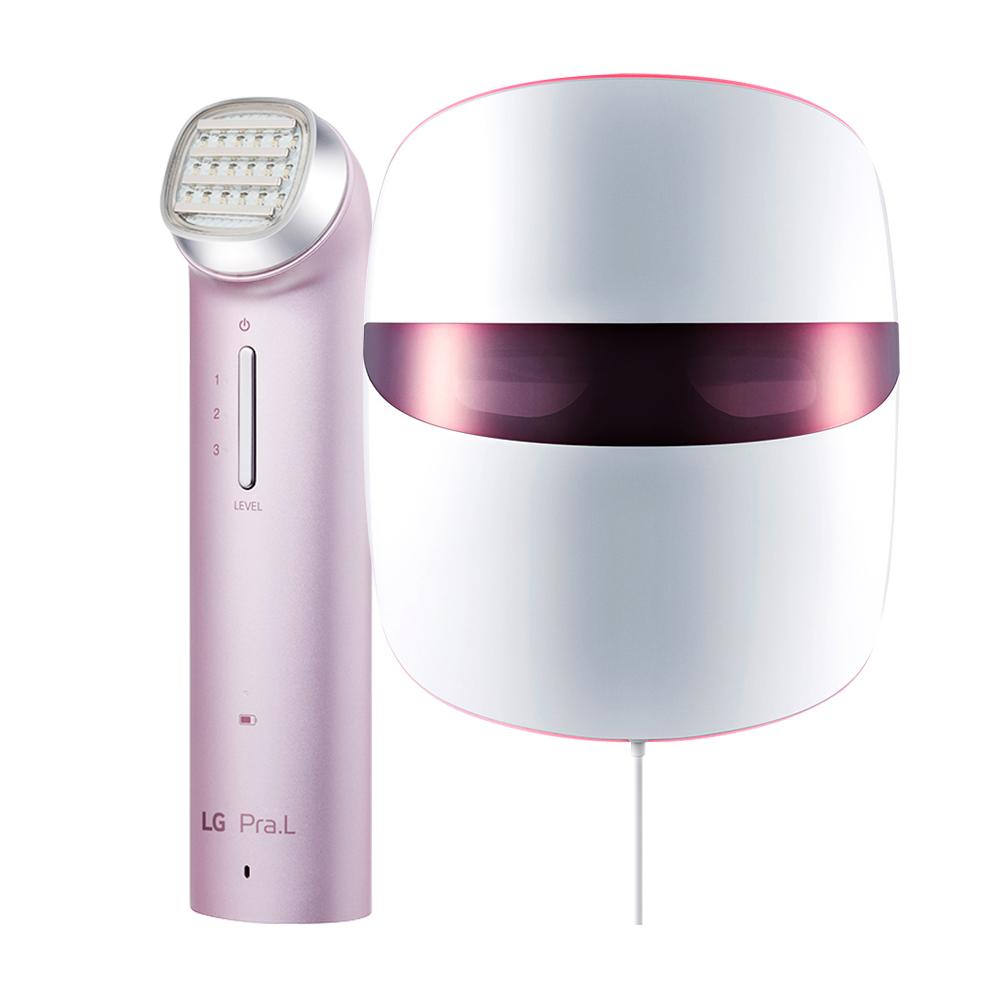 프라엘 토탈 리프트 업 케어 + 더마 LED 마스크, BLJ1V(리프트 업 케어), BWJ1V(마스크), 스틸 핑크