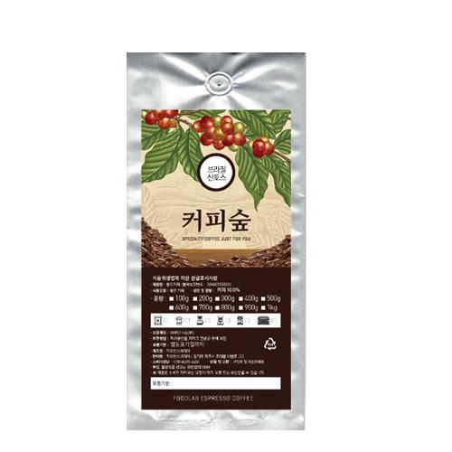 [빈프레소] 커피숲 브라질 산토스 원두, 프렌치프레소, 1000g - 랭킹9위 (27840원)