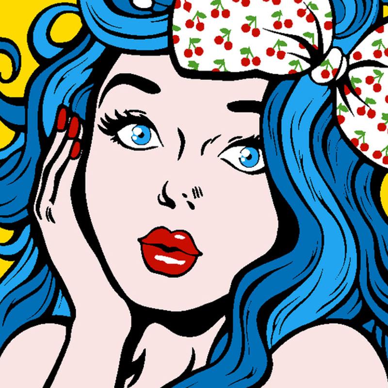 아트조이 DIY 명화그리기 세트 파란 머리의 소녀 20 x 20 cm, 혼합 색상