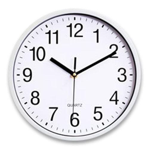 파인블루 베이직 저소음 벽걸이 시계, 화이트