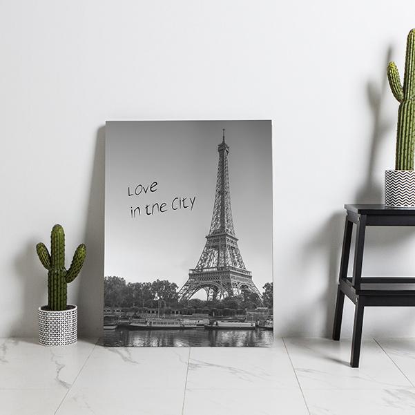 스토리퍼니쳐 고광택 하이그로시 액자테이블 대, 에펠탑