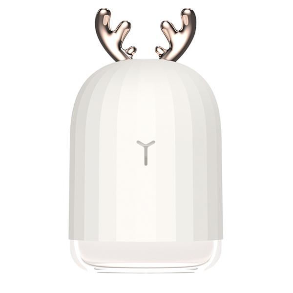 셀루미 예쁜 LED 사슴뿔 USB 미니가습기 클리어화이트, DR-ANT07