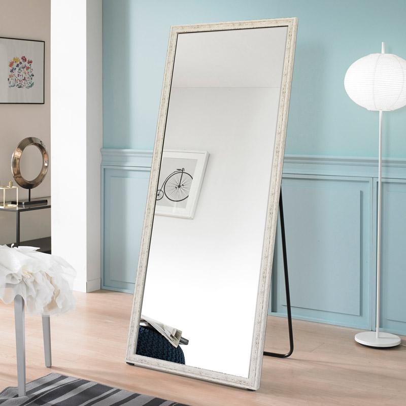 [대형 와이드 전신거울] 미소아이 빈티지 대형 와이드 거치식 전신거울, 아이보리 - 랭킹7위 (60670원)