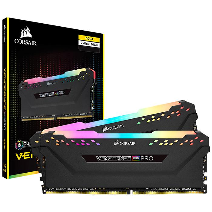 커세어 DDR4 16GB kit PC4-25600 CL16 VENGEANCE PRO RGB 데스크탑용 램 8GB BLACK 2p CMW16GX4M2C3200C16