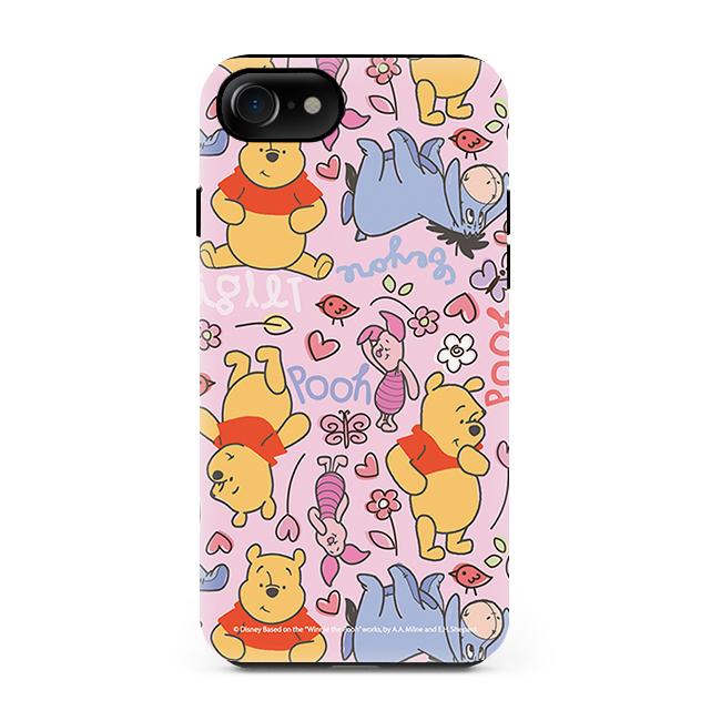 디즈니 곰돌이 푸 패턴 터프 휴패폰 케이스