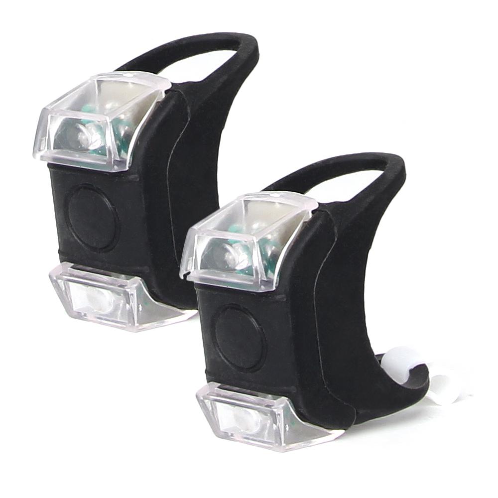 바이크샵 실리콘 LED 라이트 전조등, 블랙, 2개입