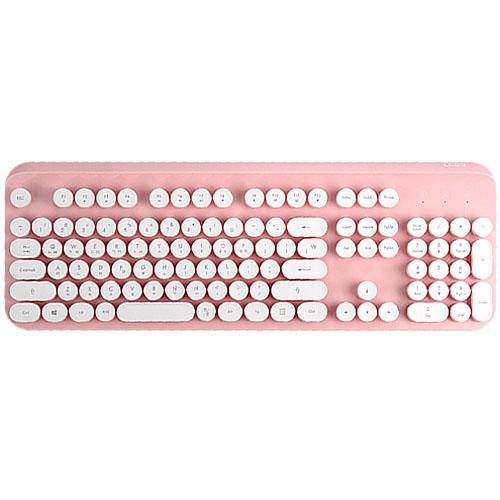 코시 코코 레트로 무선 키보드, KB3295WL, 핑크