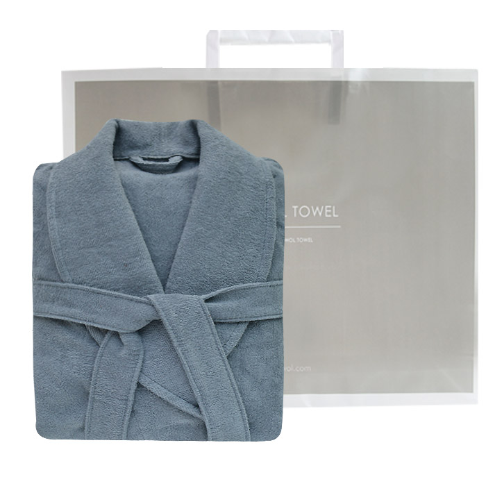 송월타월 30수호텔컬러풀 샤워가운 M + 종이쇼핑백, 회색, 1세트