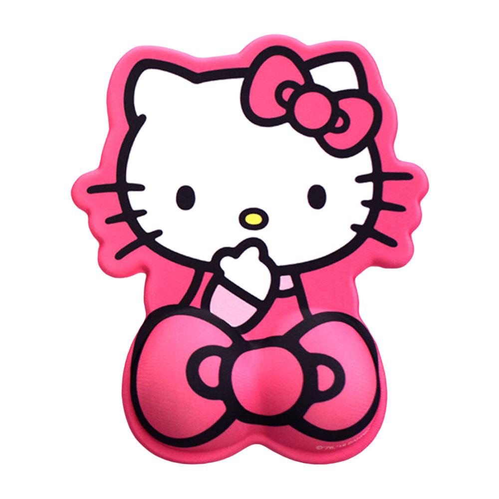 헬로키티 손목 보호 마우스 패드, 츄키티(레드), 1개