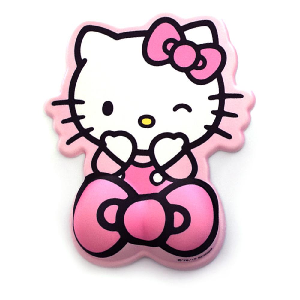 헬로키티 손목 보호 마우스 패드, 윙크(핑크), 1개