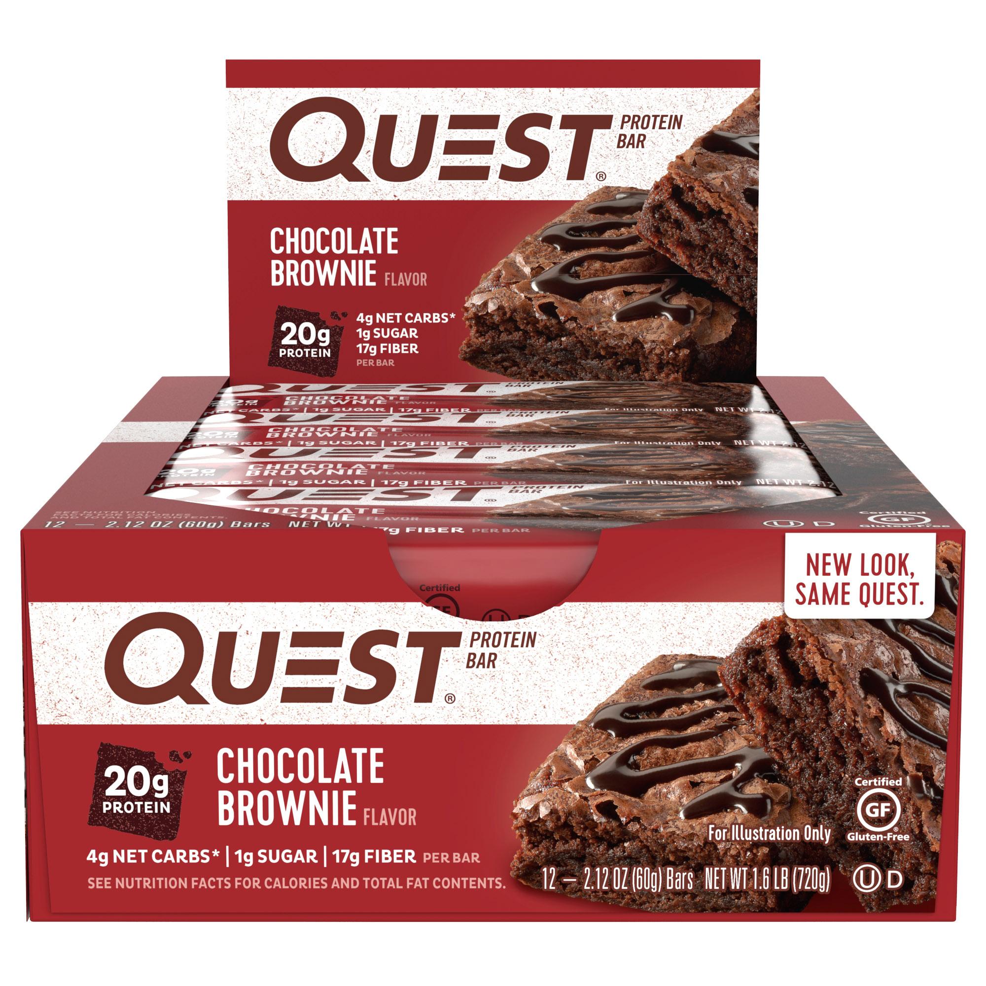 [쿠팡 직수입] 퀘스트뉴트리션 프로틴 바, 60g, 12개입, 초콜릿 브라우니(Chocolate Brownie)