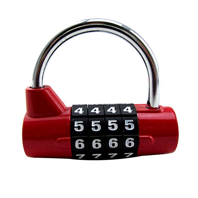 하늬통상 4단 원통 비밀번호자물쇠 레드, 1개