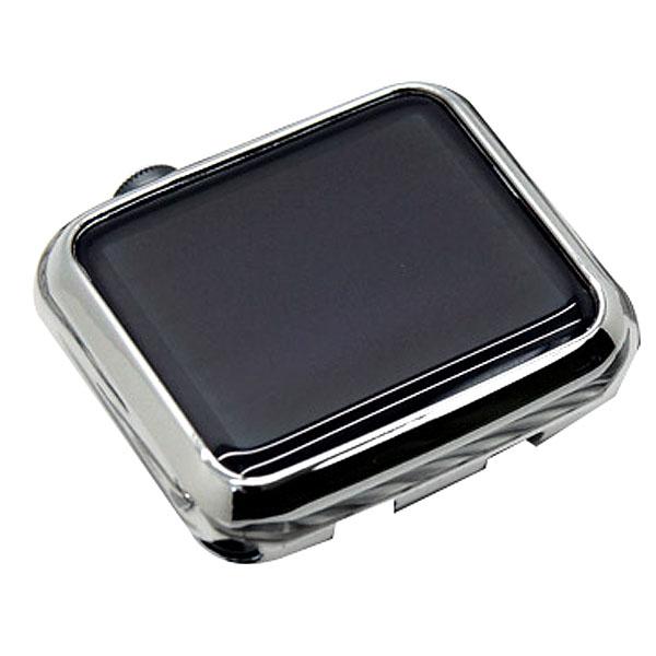 모모켓 워치스키니슈트 메탈릭크롬 소프트 애플워치 슬림케이스 42mm, 실버, 1개
