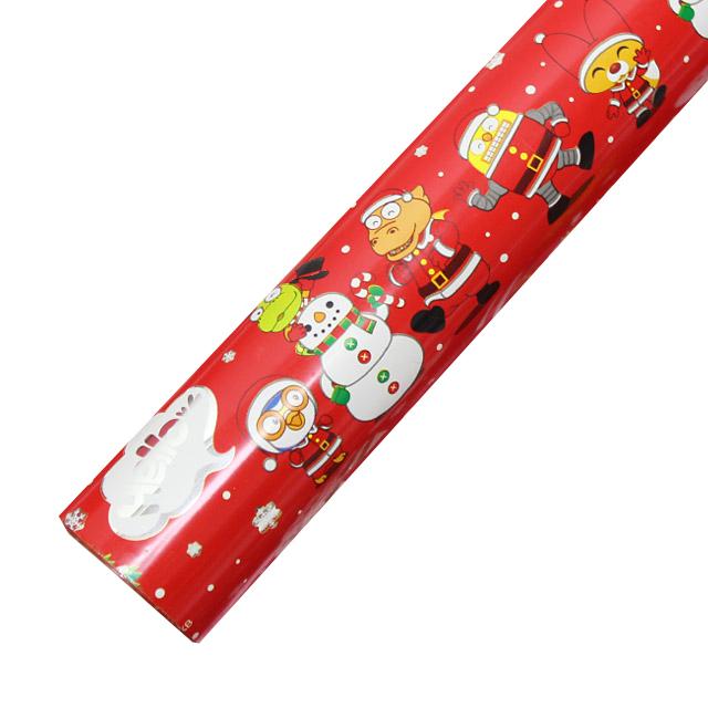 포포팬시 뽀로로 크리스마스 비닐 증착 포장지, 눈적색, 1개