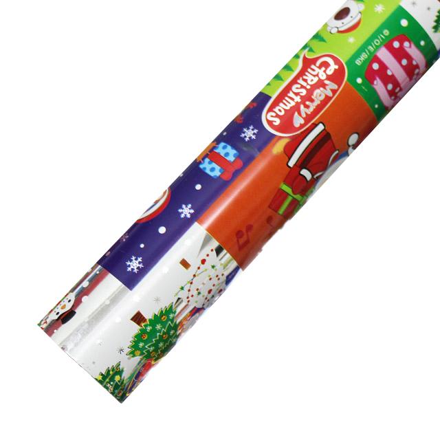 포포팬시 뽀로로 크리스마스 비닐 증착 포장지, 군청1, 1개