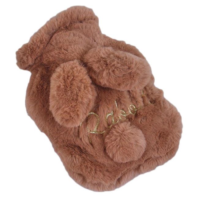 슈퍼식스 토실토실 토끼 모양 온수 핫팩 소 갈색, 1개