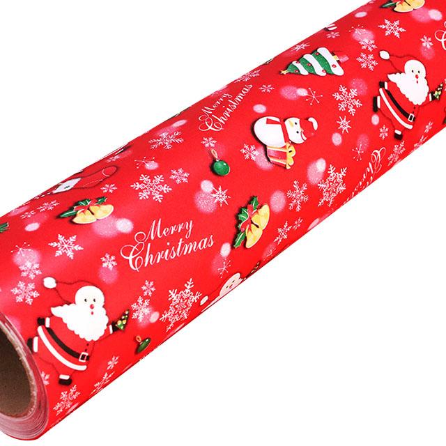 제일 크리스마스 종이롤 포장지, 산타적색, 1개