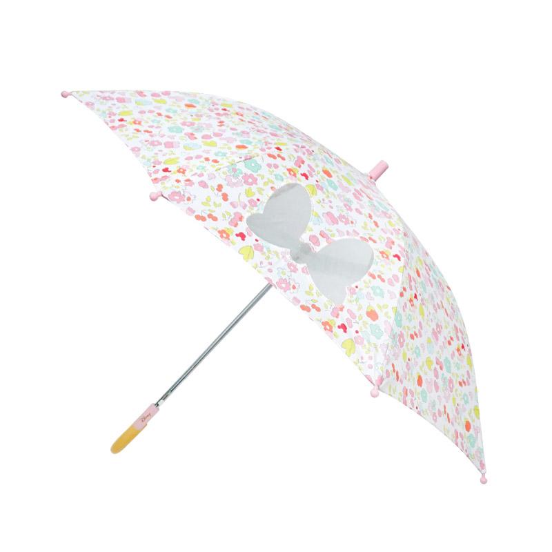 디즈니 미니마우스캐릭터 53cm 리본꽃 아동우산