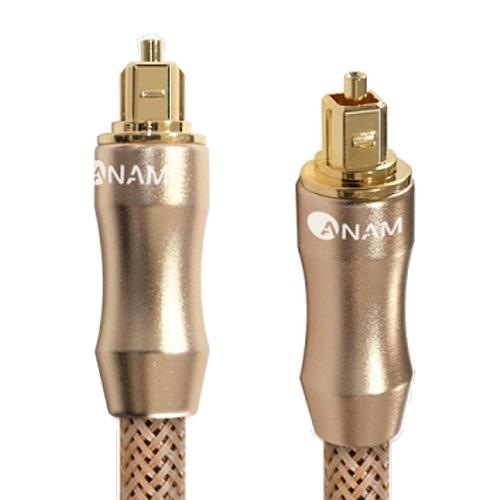 아남 골드메탈 7파이 옵티컬 오디오 전송 광케이블 3m AO-G30, 혼합 색상, 1개