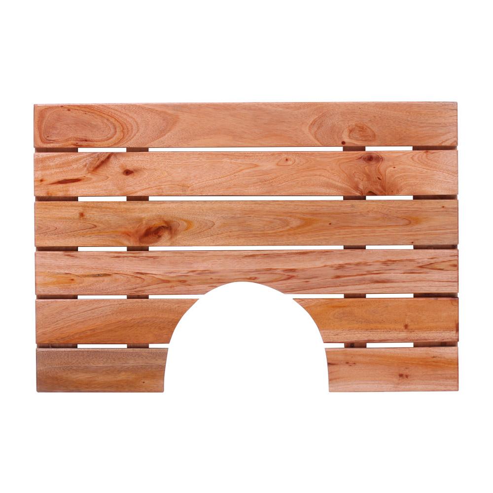 안스하우스 마호가니 원목발판 홈형 630 x 430 x 35 mm, 혼합 색상, 1개