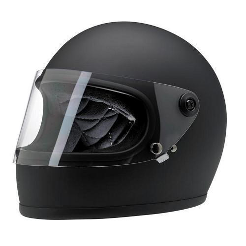 빌트웰 그링고 S 풀페이스 오토바이 헬멧, 플랫 블랙