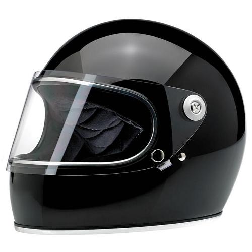 빌트웰 그링고 S 풀페이스 오토바이 헬멧, 글로스 블랙