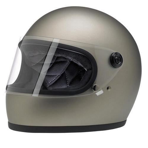 빌트웰 그링고 S 풀페이스 오토바이 헬멧, 플랫 티타늄