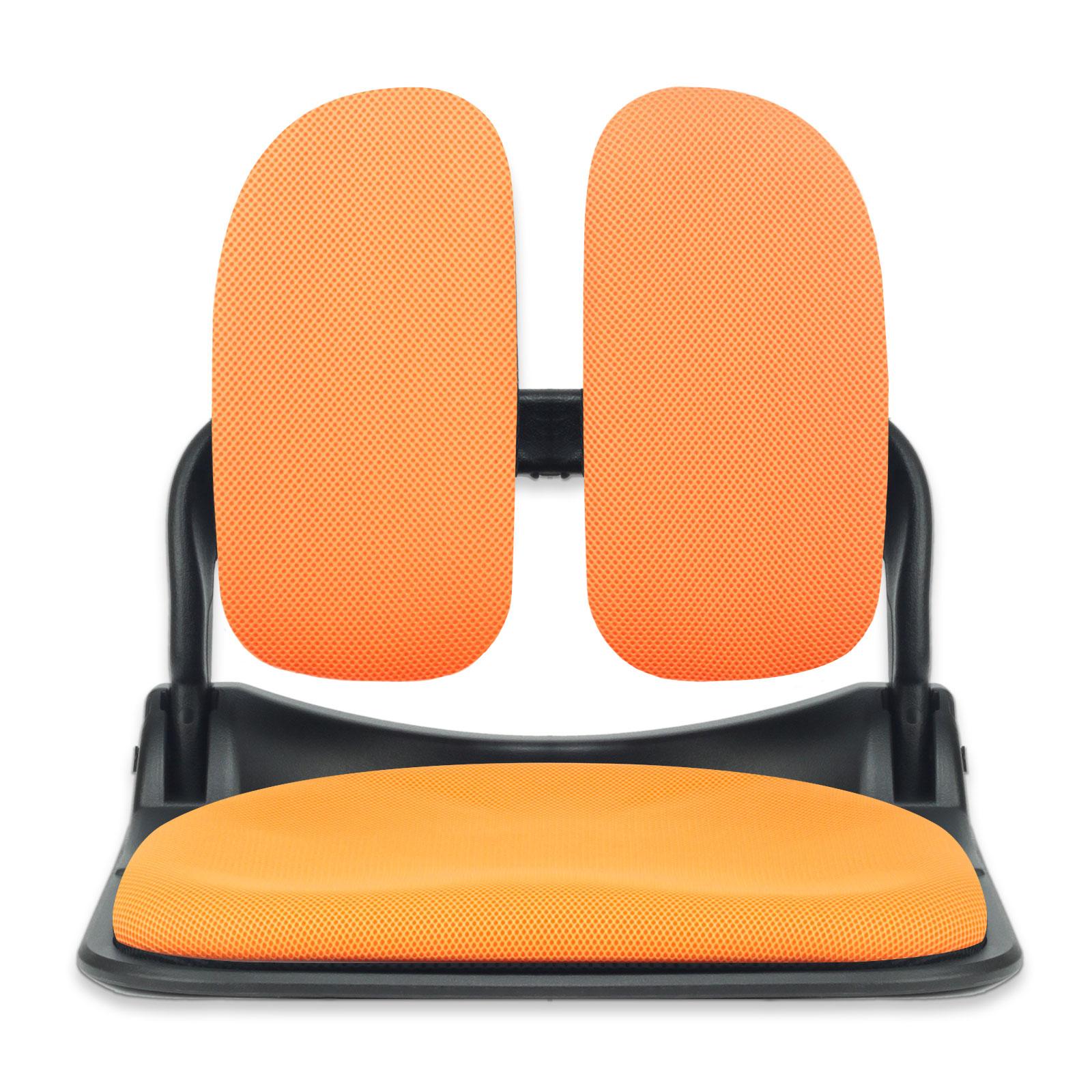 이편한의자 블랙프레임 접이식 듀얼 메쉬 좌식의자, 오렌지