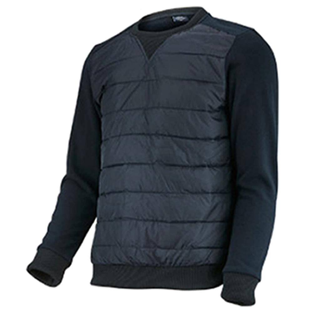 마스터베어 남성용 전면방풍 라운드 긴팔 티셔츠 W-1040, 2.네이비
